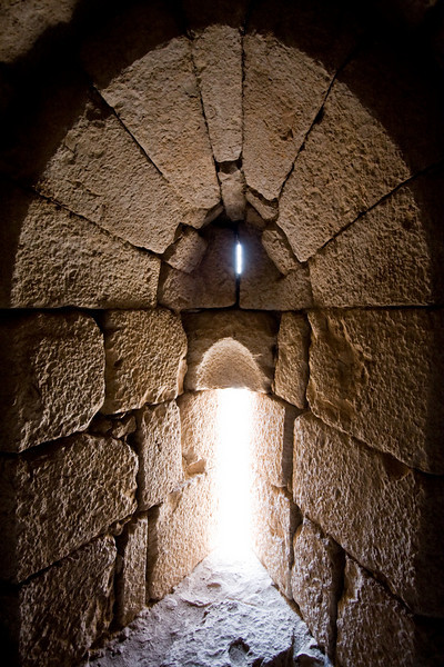 Arrow firing slit in Nimrod castle- 13th century