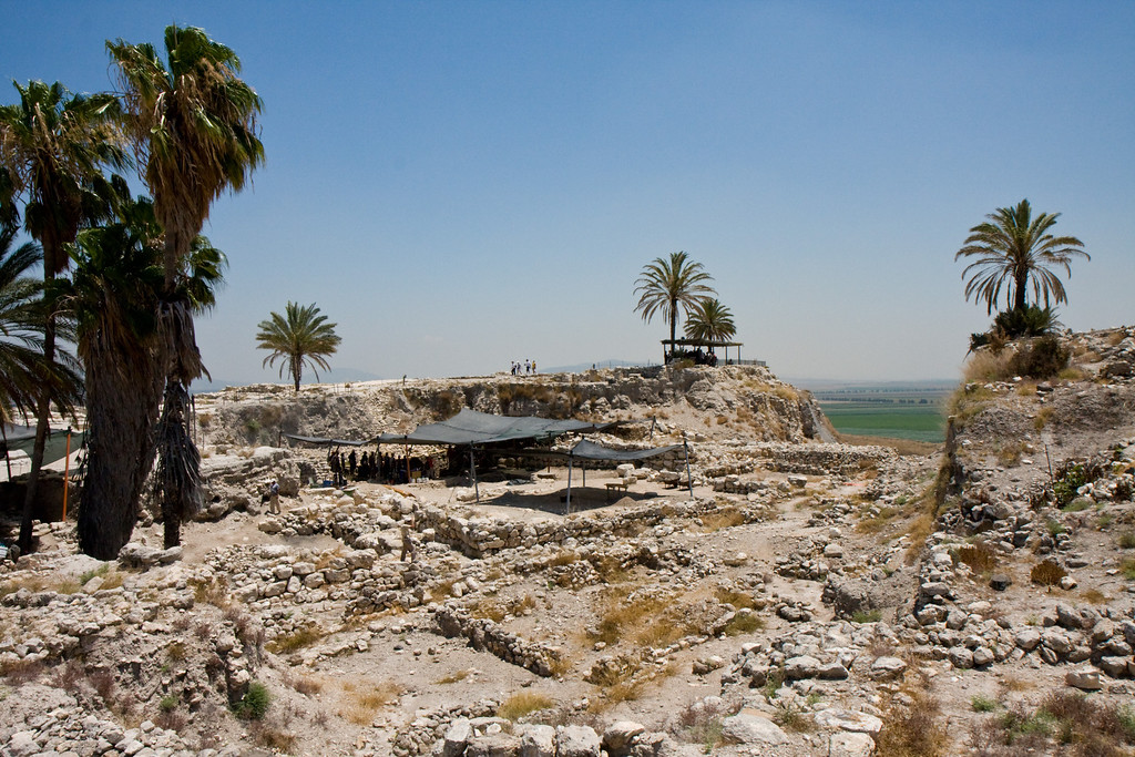 "The ruins of Har Megiddo, also known as ""Armageddon"". This city that straddled to major trade routes was fought over so many times that it is mentioned as the site of the last battle to be fought in the world"