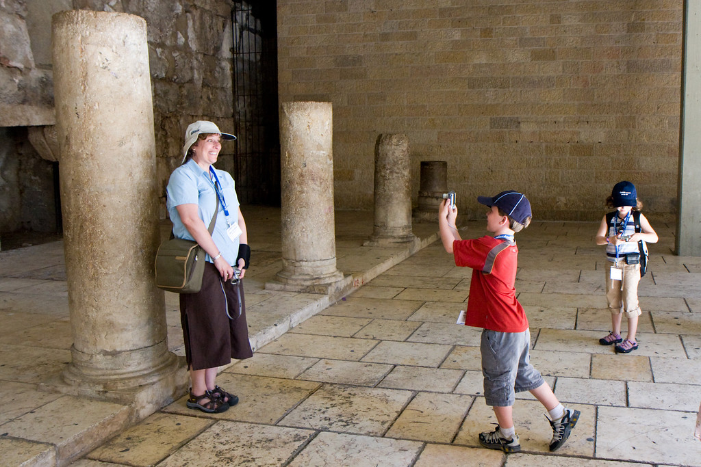 In the Cardo, the roman market street of the old city of Jerusalem