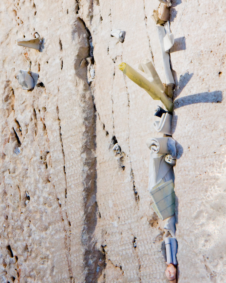 Tradition says that prayers inserted into the cracks of this most revered site of Judaism go directly to G-d