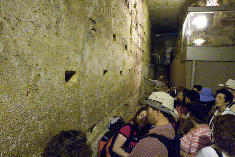 These excavations deep along the Western wall uncovered one of the largest stones used by Herod to build the temple wall. This single stone weighed over 470 tons
