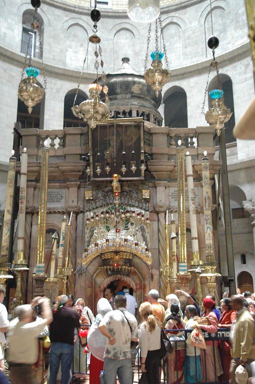 Inside is Jesus' Tomb, Holy Sepulcher Church, Jerusalem Old City