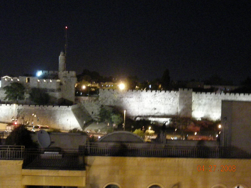 Old City wall from Beit Shumel