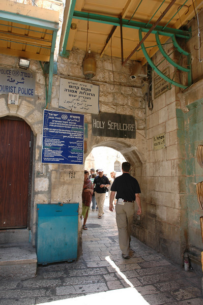 Just outside Holy Sepulcher Church, Jerusalem Old City