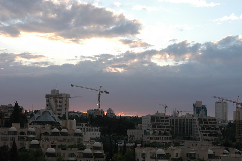 Sunset at new Jerusalem