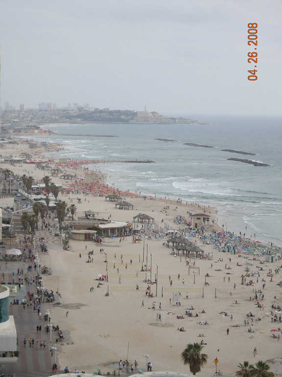 Tel Aviv Beach view at the roof of my Hotel