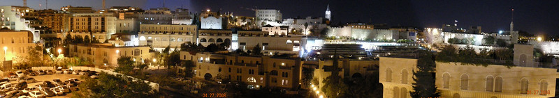 Jerusalem Old City Wall Panorama from Beit Shmuel