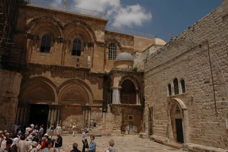 Outside Holy Sepulcher Church, Old City Jerusalem
