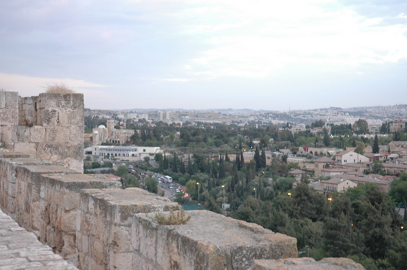 City walls and New city Jerusalem