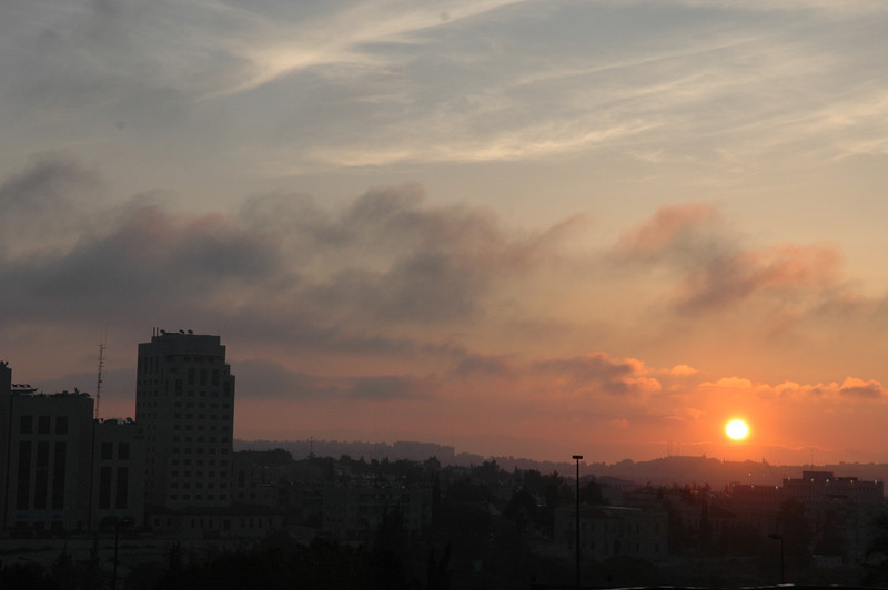 Sunrise, from my Hotel window, Jerusalem