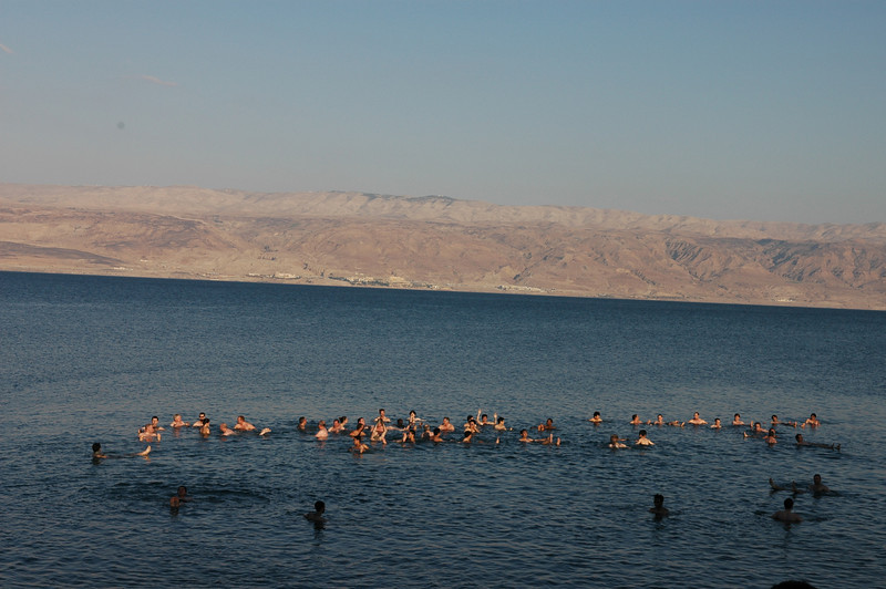 Swimmers, Dead Sea, Morocco Restaurant, Israel