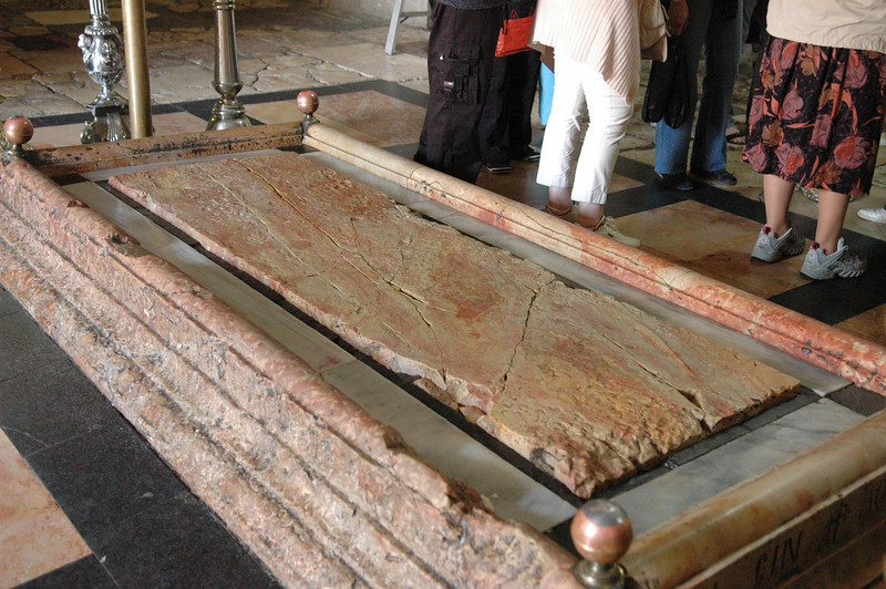Place where Jesus' body was laid to prepare for the burial, Holy Sepulcher Church, Old City Jerusalem