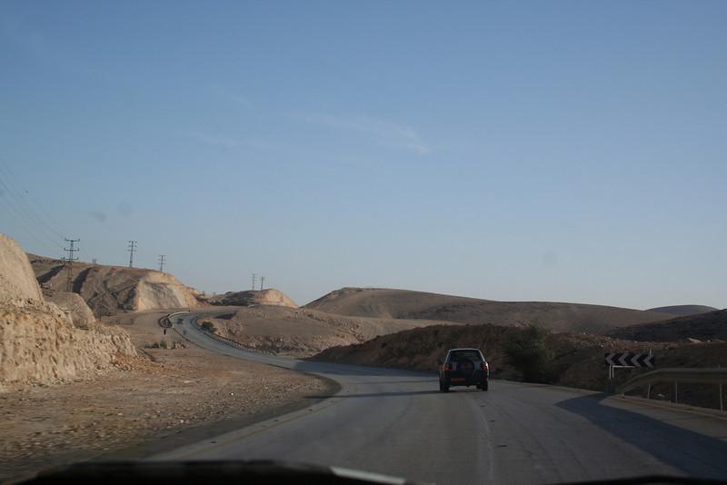 Driving to Masada - Just outside of Jerusalem