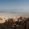 View of the dead sea from Masada (in the distance you can see Jordan)