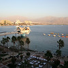 Le Meridian Eilat Suite: View from the balcony: Red sea, Eilat promenade and Aqaba, Jordan.