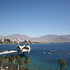 Le Meridian Eilat Suite. View from the balcony: Red sea, Eilat promenade and Aqaba, Jordan.