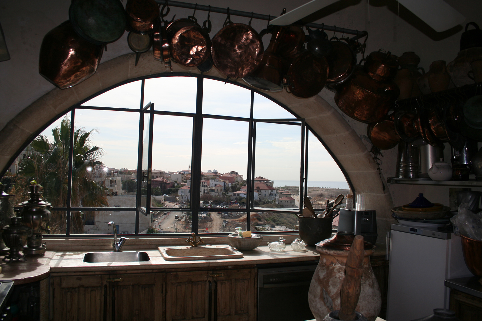View from the kitchen in the Ilana Gur house