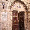 """Entrance to the Syrian Orthodox Church (said to the be the location of """"the last supper"""")"""