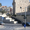 Looking towards the old city. This is the Jaffa gate entrance.