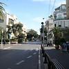 Walking along Frishman street in Tel Aviv