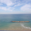 View of the Mediterranean Sea from our hotel room.