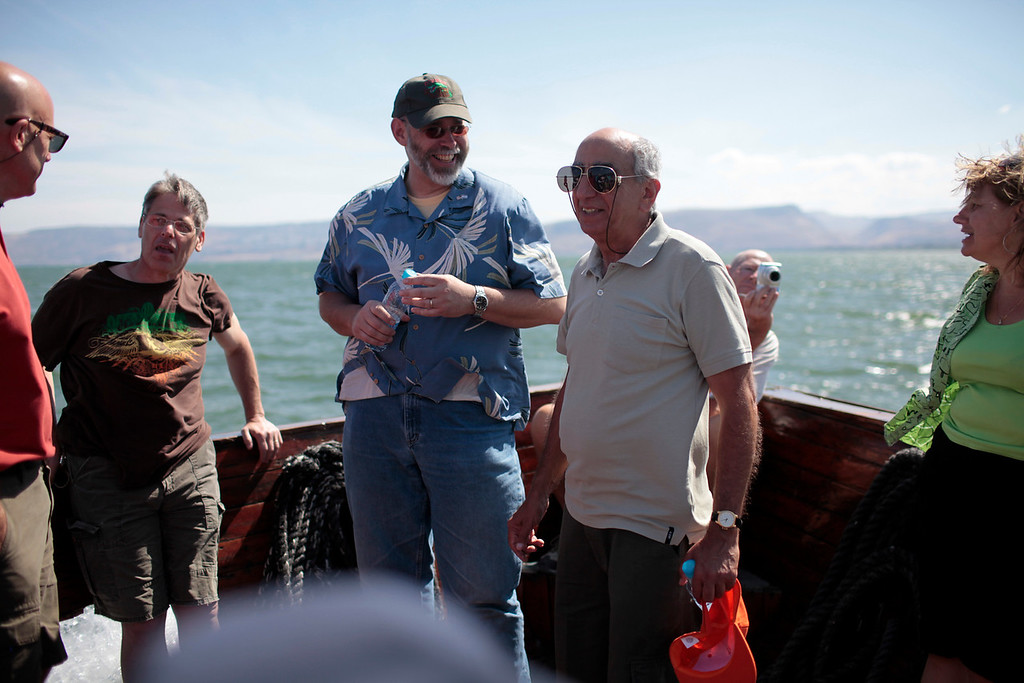 The gang on the sea of Galilee.  Even though it is tecnhically a lake, make no mistake.  It ain't teeny.