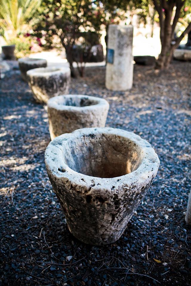 Grinding stones at Capernaum
