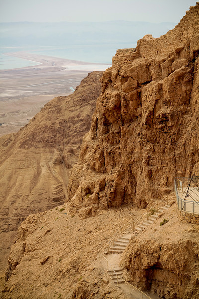 Masada view of Dead Sea.