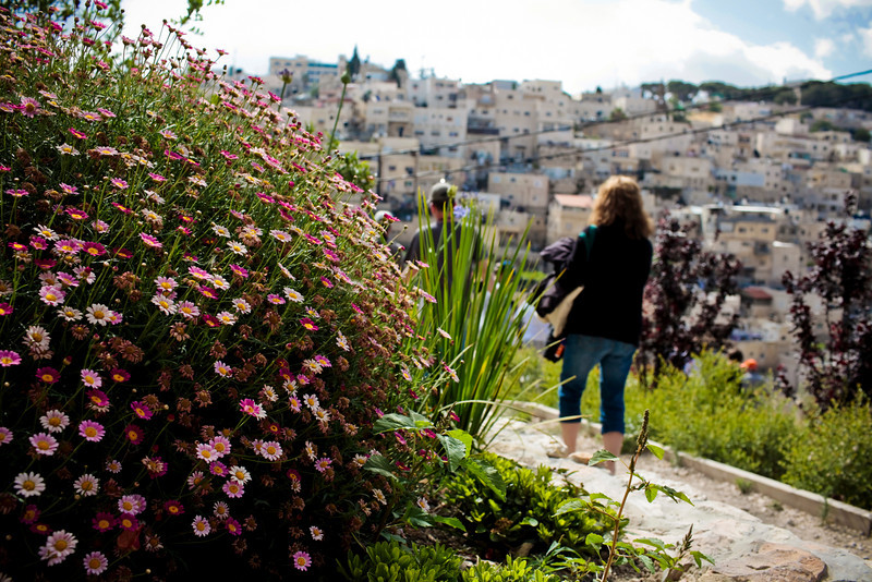 Flowers are everywhere in Old Jerusalem.