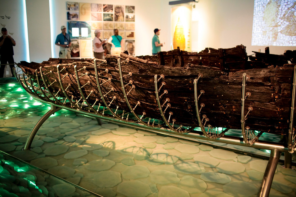 "The ""Jesus Boat"" which is really just a first century fishing vessel that was discovered in the mud of the sea of Galilee and then recovere and restored.  Probably very much like the ones that Peter and friends used."