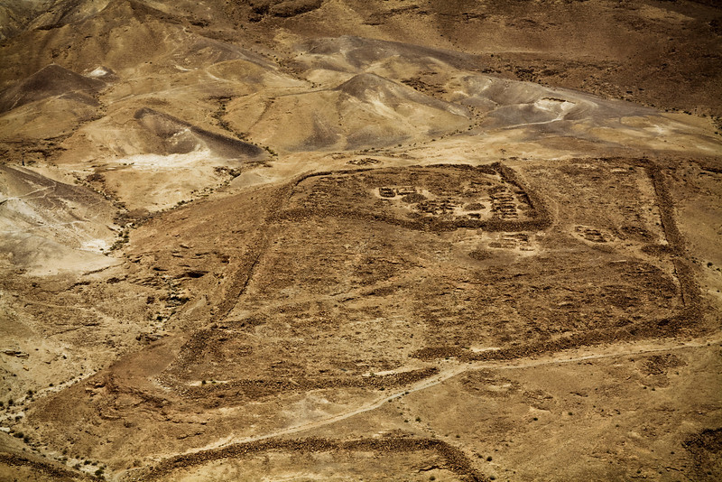 One of the Roman encampments outside Masada.  You can't tell the scale here but that is HUGE!