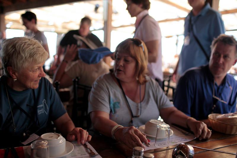 Marny, Kathryn and Gary enjoying lunch