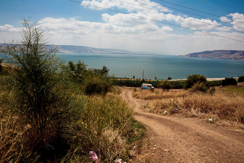 This is it.  The Mount of Beatitudes.  You can't tell from this but the hillsides create a natural ampitheater.