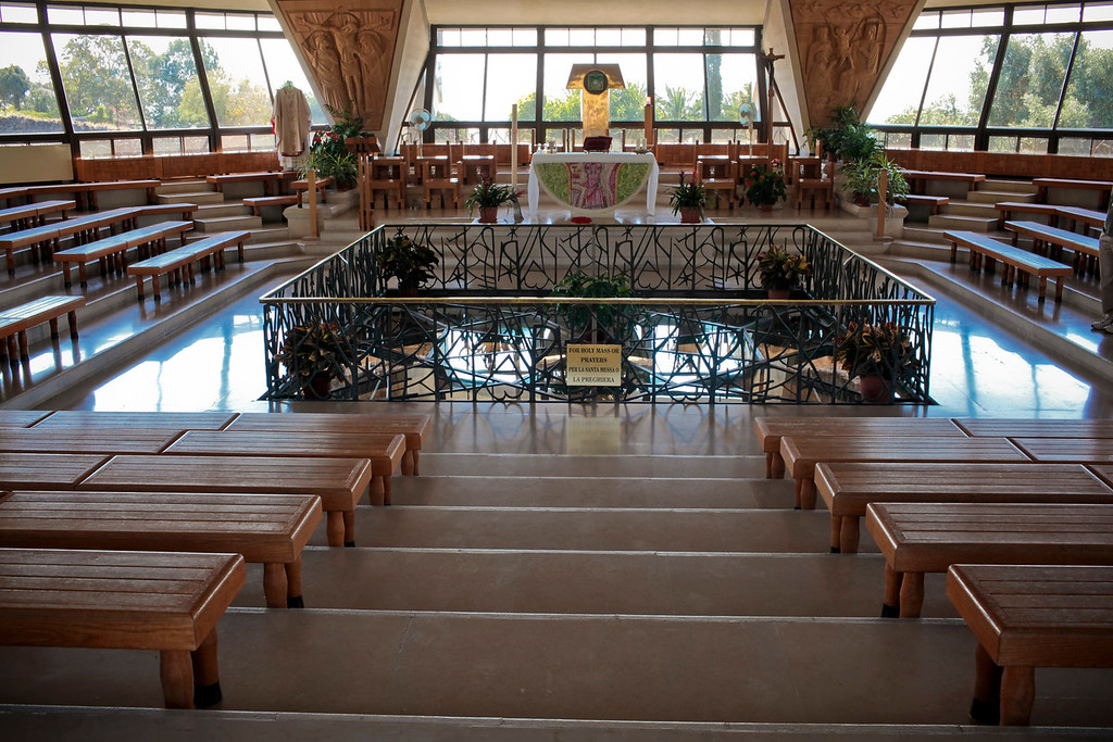 Inside the church that sits over Peter's house