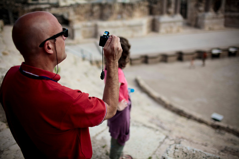 Mark and Jill appreciating the magnitude of the what the archeologists have uncovered at Scythopolis.
