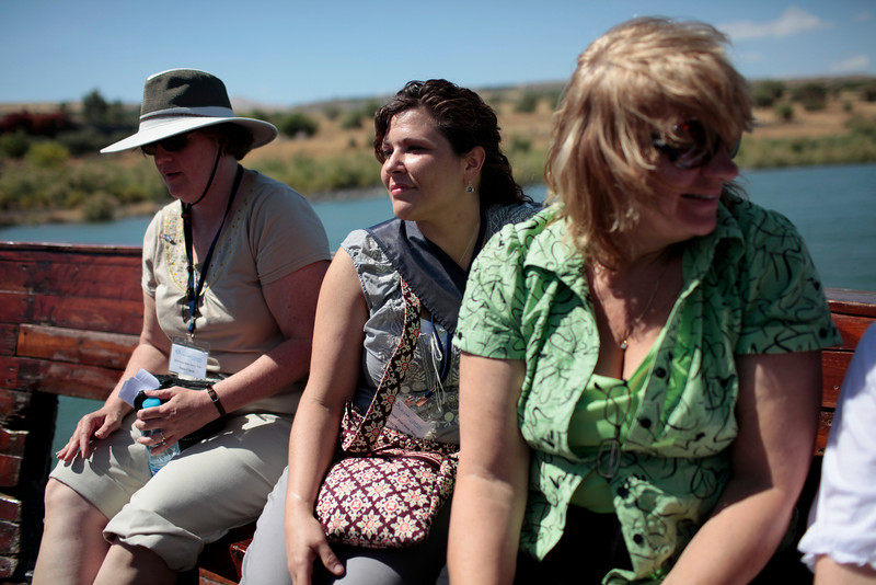 Diane, Jeanette and Bev on the Sea of Galilee boat-ride.