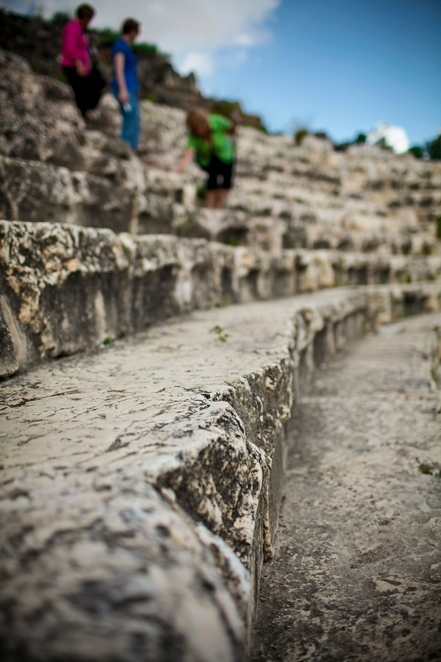 The seats in the mini-coloseum at Scythopolis.