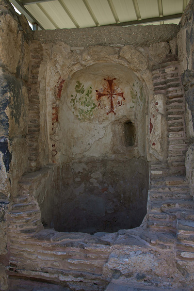 A well with ancient Christian decoration.
