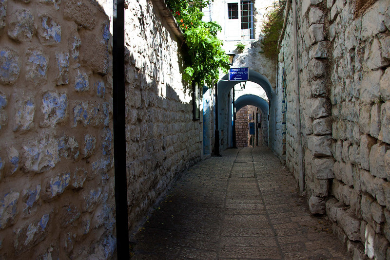 Safed. At about 4,500 ft. above sea level, Safed is located at the top of Israel's third highest mountain. Safed (spelled at least six different ways) dates from around the 2nd Century BC. It is home to the newly popular Kabbalah numerology fad. Population is now around 20,000. There are a number of ancient synagogues, the most famous of which is shown in the following pictures. Safed is the capital of Jewish mysticism.