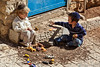 Ultra-Orthodox kids at play in Safed