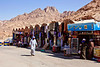 All of the shops for tourists at the base of Mt. Sinai and the entrance, a quarter-mile away, to St. Katherine's Monastery.