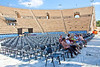 Herod's Roman Theater at Caeserea. Very modern rock concerts are held here regularly.
