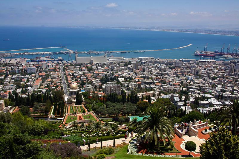 Haifa from waaaaay up on top