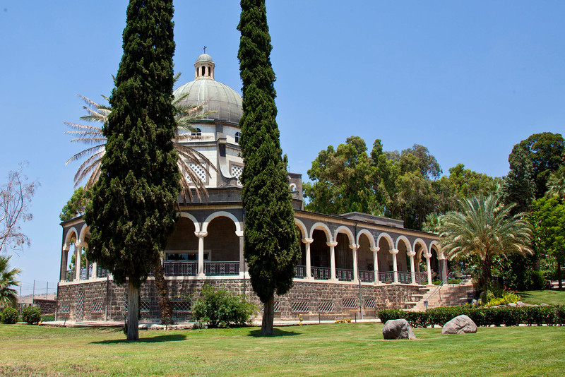Exterior or the Church of the Beatitudes.