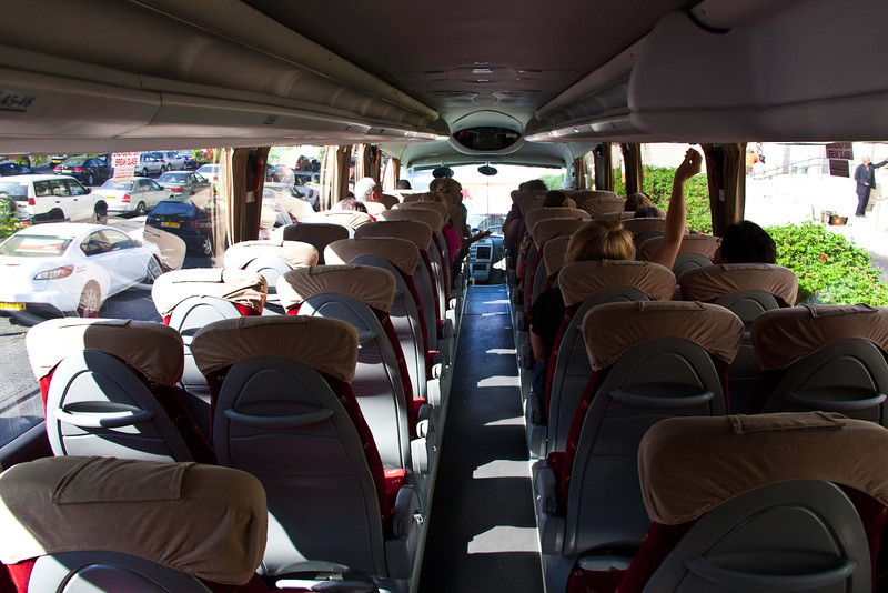 Interior of our coach for the entire trip.