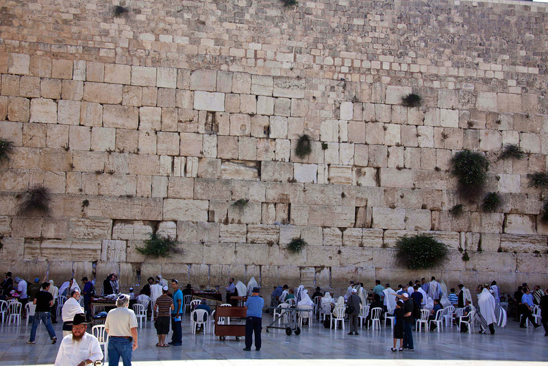The Wailing/Western Wall of the Second Temple. This and the next 23 pictures.