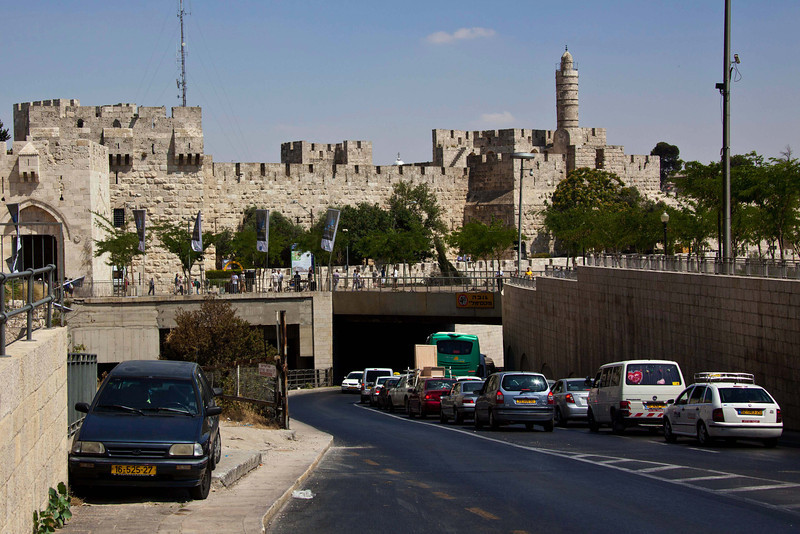 View of the Old City from Jaffa Gate