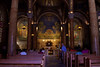 Interior of the Church of All Nations-Gethesmane. Actually financed by 12 nations. The USA is one.