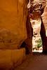 The slot canyon