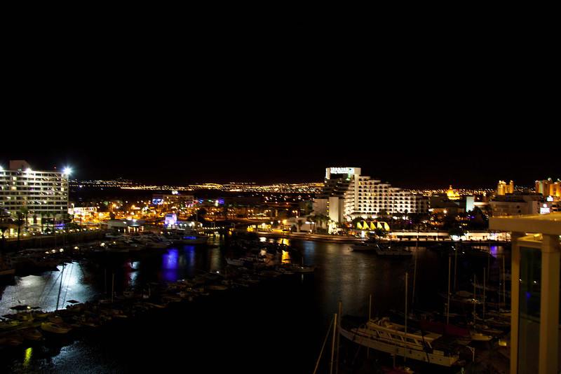 Elat harbor from our hotel room